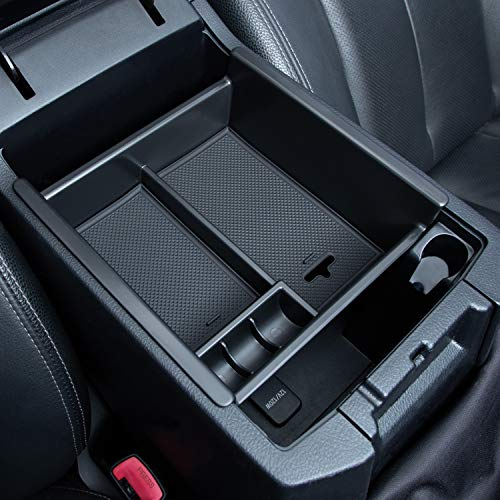 JKCOVER Center Console Organizer Tray Compatible with Toyota 4Runner 2010-2019 2020 2021 4Runner Accessories,Insert Armrest Box Secondary Storage ABS Black Materials