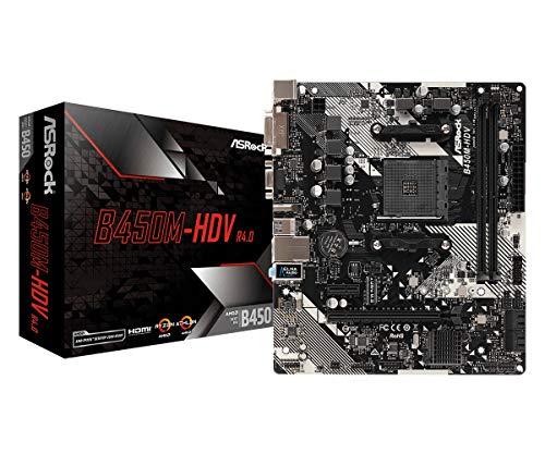 ASRock B450M-HDV R4.0 Socket AM4/AMD Promontory B450/DDR4/SATA3&USB3.1/M.2/A&GbE/MicroATX scheda madre