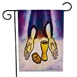 Musesh Welcome Garden Flag, Home Decorative Garden Flag Seasonal Garden Flag 12.5X18Inch Last Supper Jesus Christ Bread Wine Holy Abstract Artistic in House Yard Flag Holiday Seasonal Outdoor Flag