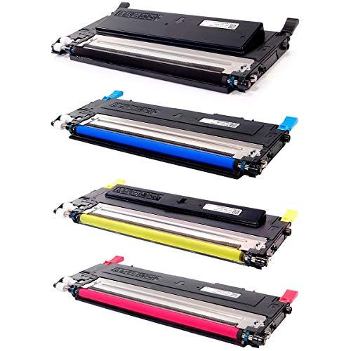 Kit Colorido de Toner Compatível CLT-407 407S para Impressora CLP-320 CLP-325 325W CLX-3185 3185N CLP320 CLP325 CLP325W CLX3185 CLX3185N