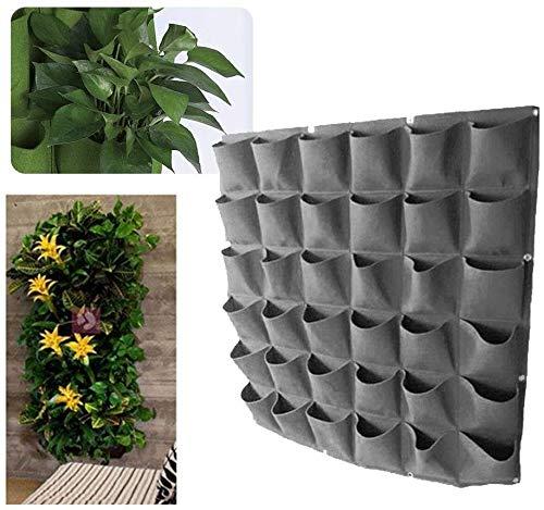 QYHSS 72 Bolsillos Bolsas De Plantación, Maceta De Pared Vertical para Jardín, para Suministro de casa Pared balcón jardín, para Plantación Al Aire Libre, Manta Vertical (Verde)