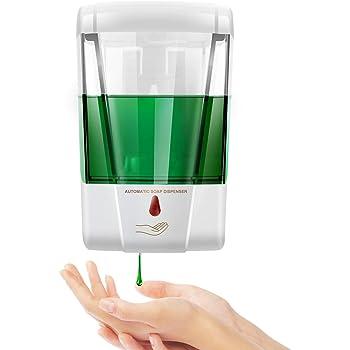 Dispensador de jabón automático Pared, 700 ml sin Contacto Manos Libres, con Taza de medición, dispensador de jabón para Cuarto de baño, Aseo, Cocina, Oficina, Hotel