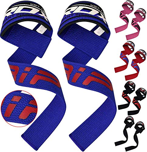 RDX Weight Lifting Straps Padded Wrist Support Non Slip Flex Gel Grip Great for Powerlifting, Bodybuilding, Gym Workout, Strength Training, Deadlifts & Fitness Workout