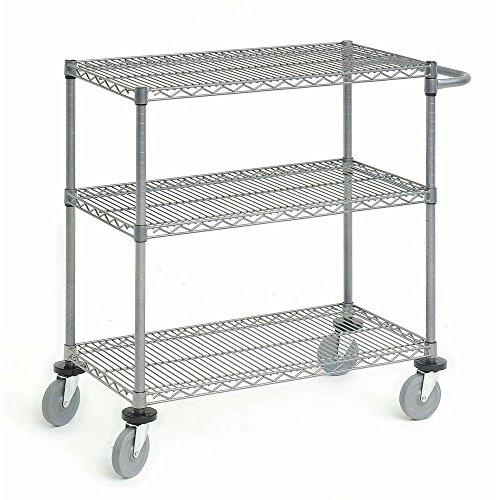 "Utility Cart Flint Steel Wire Cart - 24"" L x 18"" W x 39 1/2 H"
