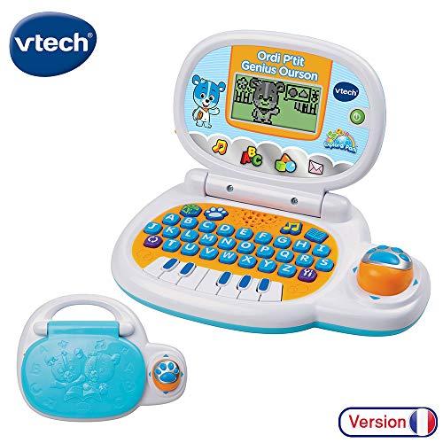 Vtech - 139505 - Jeu Électronique - Ordinateur P'tit - Genius Ourson - Bleu