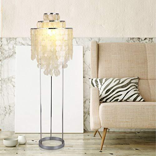 Staande lamp voor thuis, LED vloerlamp schelpsokkel woonkamer warm slaapkamer modern eenvoudige Nordic Hotel creatieve lamp 90120701 voetschakelaar bescherming voor