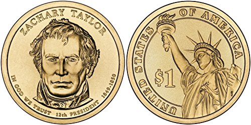 2009 D Zachary Taylor, 25-coin Bankroll of Presidential Dollars Uncirculated