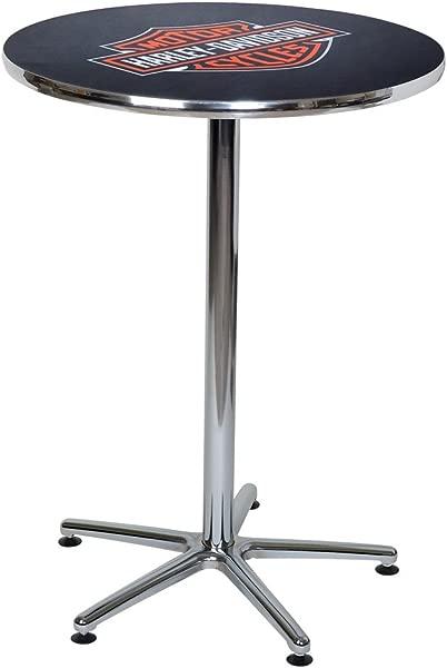 HARLEY DAVIDSON Bar Shield Logo Round Cafe Table Durable Chrome HDL 12314