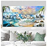 Diy 5D Diamond Painting Kits Cascada Del Caballo Large Full Drill Embroidery Cross Stitch Art Crafts For Home Wall Decor Diamante Cuadrado 60x120cm K7102