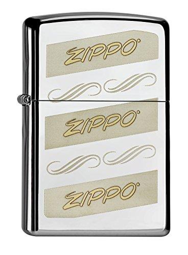 Zippo Zippo 60000664 Two Tone Feuerzeug, Messing, Edelstahloptik, 1 x 3,5 x 5,5 cm Edelstahloptik