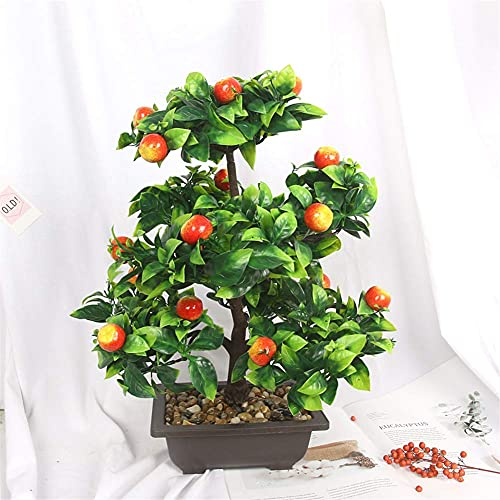 Mimitool Artificial Flower,Fake Fruit Tree Bonsai Silk Bridal Realistic Bouquet Christmas Party Home Hotel Office Garden Decorative