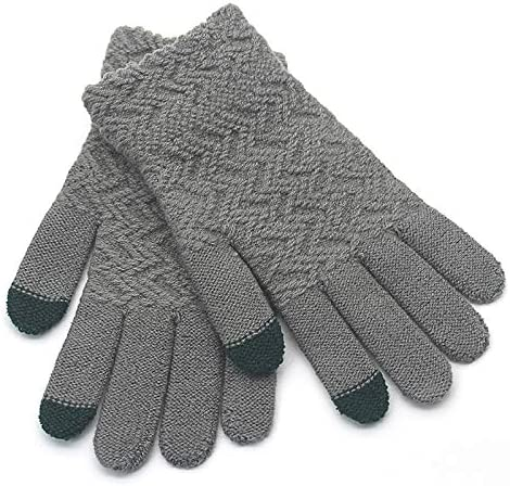 Gloves Men Winter Warm Soft Simple Outdoor All-match Trendy Fashion Leisure Bicycle Adults Mittens Mens Glove New - (Color: shenhui, Gloves Size: One Size)