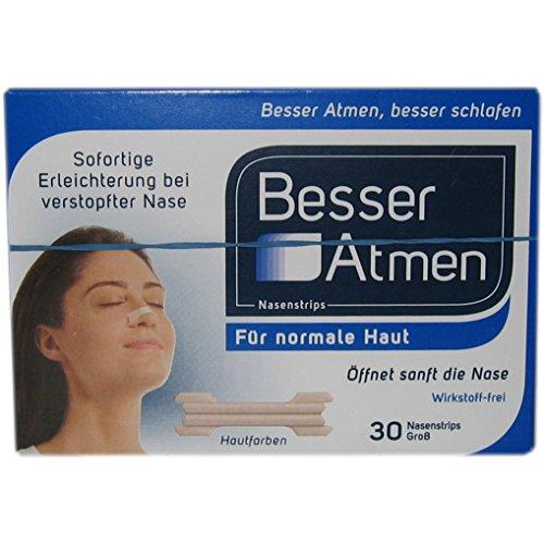 BESSER Atmen Nasenstrips beige grosse Groesse, 30 St
