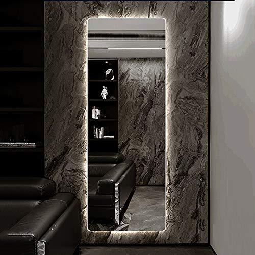 Mirror Espejo con luz LED sin Marco 120 × 35 cm Espejo Espejo de Cuerpo Entero Tienda de Ropa Espejo de Montaje Espejo de Entrada Espejo de Maquillaje Espejo de Dormitorio Espejo de Pared Espejo HD