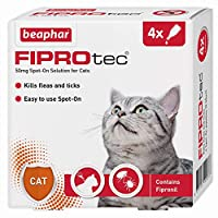 Easy to use spot-on Contains fipronil Kills fleas for up to five weeks For cats over 8 weeks of age and weighing more than 1kg UK authorised veterinary medicine