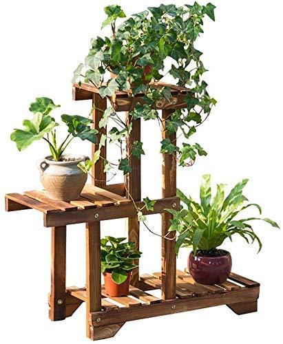 BINGFANG-W Soporte Planta de madera de soporte 3 Niveles 4 Ollas maceta de flores estante del sostenedor del estante de Utilidad multifuncional de estanterías de almacenamiento Unidad for la sala de e