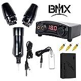 BMX Pen Rotary Machine Tattoo Kit Rotary Tattoo Pen with Swiss Motors Cartridge Needles Power Supply Rotary Machine Use for Tattoo Artist