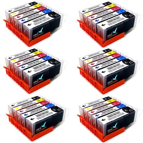 Office Channel24 - Cartuchos de tinta para Canon PGI 570 XL CLI 571 XL para Canon Pixma MG 5750 5751 6850 6851 TS5050 TS5051 TS5053 TS6050 TS8050 TS8051 TS9050 (6 juegos BK). /PBK/C/M/Y).