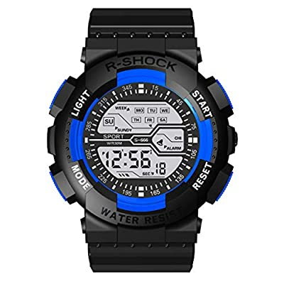 Pageantry Men's Digital Watch Big Face Waterproof Electronic LED Sport Wrist Watch Fashion Dual Display Multi Function Watch Outdoor Sports Watches