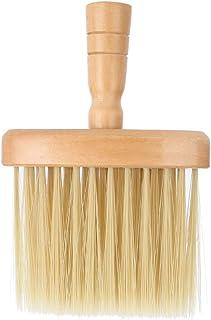 ヘアカットブラシネックフェイスダスターブラシサロンヘアクリーニング木製掃除ブラシヘアカット理髪ツール