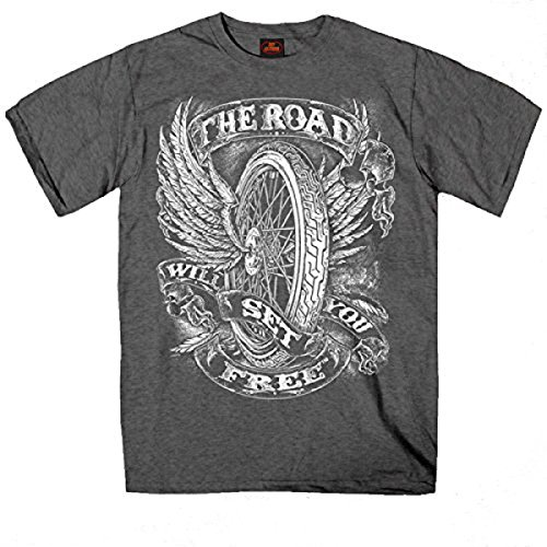 The Road Set You Free Biker Shirt Vliegende Fiets Chopper therapie is dure wind is goedkoop