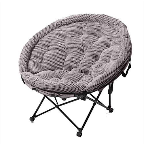 MUZIDP Sillones reclinables plegables reclinables, plegables, reclinables, para ocio, sofá, portátil, redondo, dormitorio, oficina, capacidad de carga de 150 kg (color gris)