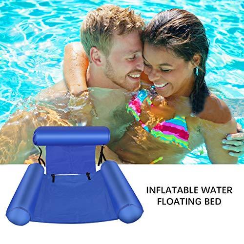 Aufblasbare Pool Hängematte Luftmatratze Wasser Ultrabequeme Schwimmliege Wasserliege Bett Matte Swim für Erwachsene und Kinder
