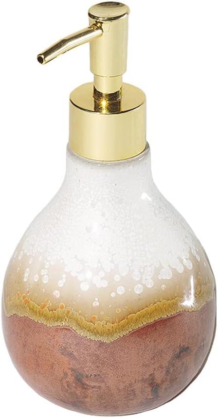 HUSHFLY Creative Glazed Fambe Ceramic Lotion Dispenser for Home