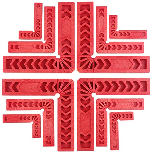 Coolty 12 Stück Positionierungswinkel Rechtwinklige Klemme, 90 Grad Eckklemme Holzbearbeitungswerkzeugen Rechts Winkel Klemme für Bilderrahmen, Kästen, Schränke oder Schubladen (3