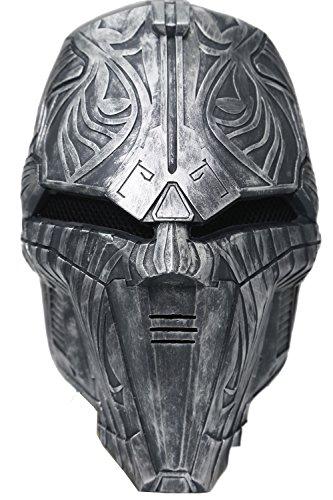 Déguisement Masque Film Cosplay Costume Halloween Résine Gris Masque Casque pour Adultes Robe de Fantaisie