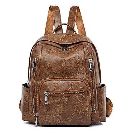 YIZICHOO Damen Rucksack Handtaschen Elegant Anti Diebstahl Frau Stadtrucksack Henkeltaschen Tagesrucksack YIDE86500 Braun