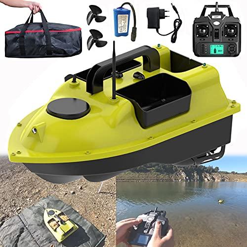 YXRJJT Barca da Pesca Professionale, Barca con Esche da Pesca, Barchino Carpfishing con Telecomando GPS a 2,4 GHz per Fiumi e Laghi, Barca RC, Batteria da 9600mAh, 4-5 Ore di Utilizzo