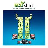 Ecoshirt YY-0YVZ-U73E Pegatinas Stickers Fork Rock Shox Rs1 2018 Am191 Aufkleber Decals Autocollants Adesivi Forcela Gabel, Amarillo Fluor 029