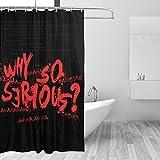 Why So Serious Joker Batman Duschvorhang, Badezimmer-Duschvorhang, strapazierfähiger Stoff, wasserdicht, mit 12 Haken