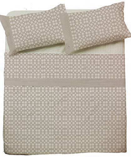 NOVIA - Sábanas de matrimonio completo de algodón, juego de sábanas de matrimonio Venere   Juego de sábanas de dos plazas   Juego de sábanas para cama de matrimonio (Pompea Ulma V951)