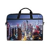 VICAFUCI Nuevo Bolso para portátil de 15-15.4 Pulgadas,Noche en Dubai Vivid Display Emiratos Árabes Unidos Atracción turística Tema de Viaje