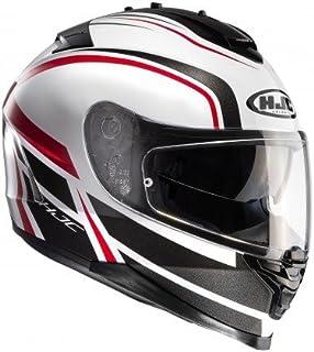 HJC Helmet Motorrad-Helm IS-17 Cynapse, Black/White/Red, Größe XL