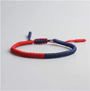 Modern Tibetan Buddhist Love Lucky Charm Bracelets Bangles Women Men Handmade Knots Rope Budda Bracelet