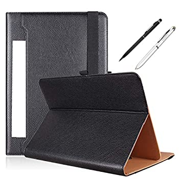 PHARRI Tablet case 10 inch Universal Tablet Case for 9 to 10.9 inch Tablet  Stand Folio Case Cover with Multiple Viewing Angles Free Stylus Pen  Send Out at Random Color  - Black