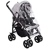 Universal Rain Cover for Buggies Prams Baby Strollers Carriage & Pushchairs - Waterproof, Safe & Non-Toxic Material with Breathable Vents - Travel Raincover for Snow Wind Rain - Includes Storage Bag.