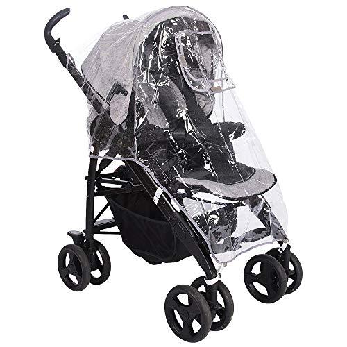 Universal Regenschutz Regenverdeck für Baby Buggys Kinderwagen Sportwagen - Wasserdichtes, Sicheres & Ungiftiges mit Atmungsaktiven Belüftungsöffnungen - Reise Schnee Wind Regen| Aufbewahrungstasche.