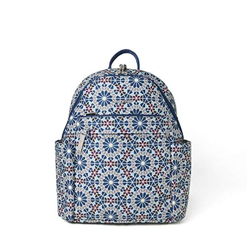 Baggallini Women's Anti-Theft Vacation Backpack, Moroccan Print, One Size