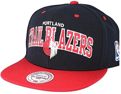 Mitchell & Ness Portland Trail Blazers 2 Tone Team Arch Snapback Cap NA80Z Black Red NBA