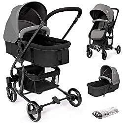 2 in 1 Travel System: It is not only a baby pushchair, but also a carrycot. Basket mode is suitable for infants 0-6 months; It can easily converts to pushchair mode for children 6 months to 15kg (approx. 3 years). It also comes with a raincover which...