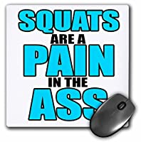 3dRose LLC 8 x 8 x 0.25インチ マウスパッド スクワット お尻の痛み ターコイズ トレーニング ジム (mp_163902_1)