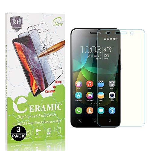 Bear Village® Displayschutzfolie für Huawei Honor 4C, Ultra-Dünn HD Panzerglasfolie mit 3D Touch, 9H Härte Schutzfilm aus Gehärtetem Glas für Huawei Honor 4C, 3 Stück