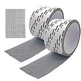 Kit de reparación de puertas y ventanas con mosquitero Cinta de malla autoadhesiva para pantallas Cinta impermeable autoadhesiva extra fuerte 1.97 x 78.74 pulgadas (5cm * 2m) Paquete de 2