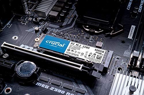 Crucial P2 CT500P2SSD8 SSD Interno, 500GB, 3D NAND, NVMe, PCIe, M.2