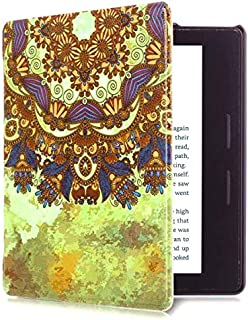 Capa para Kindle Oasis da 9a geração (2017-2018) - Fecho magnético - Leve - Rígida - Mandala
