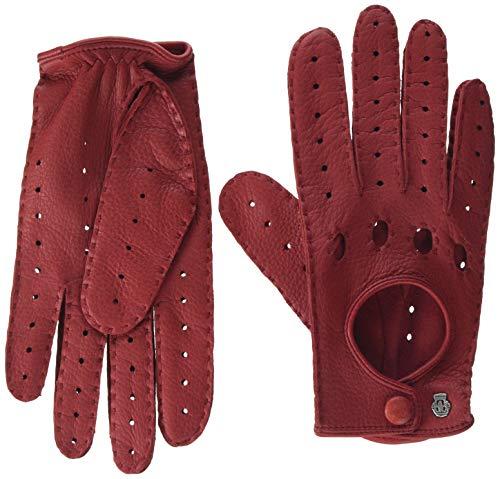 Roeckl Damen Classic Driver Deer Hirsch - Nappaleder Handschuhe, Rot (Tomato Red 440), 7